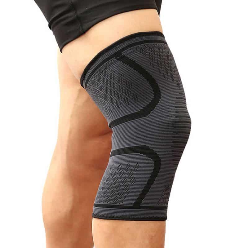 Opora za koleno pri teku - Vrhunska kvaliteta - opornica za koleno v črni barvi 1