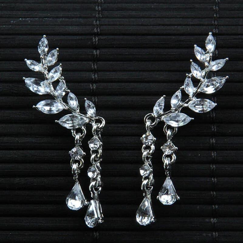 Uhani srebrne angelska krila srebrna barva