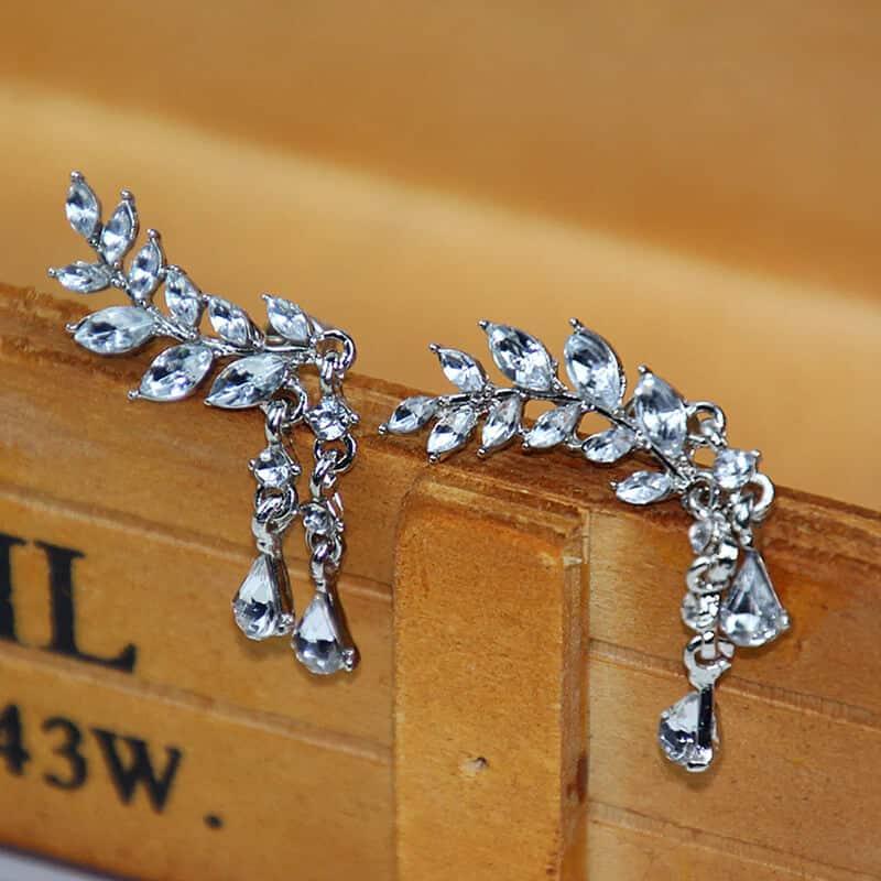 Uhani srebrne angelska krila
