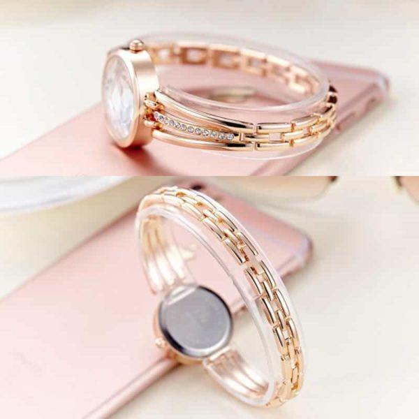 elegantna ročna ženska ura z diamanti