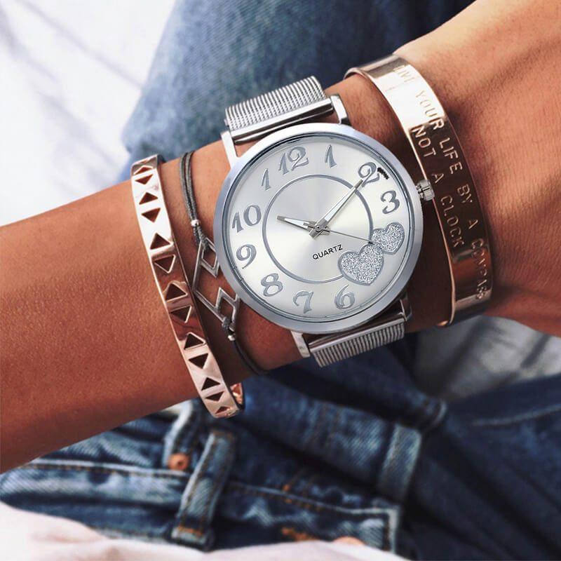 elegantna ura za ženske srebrna