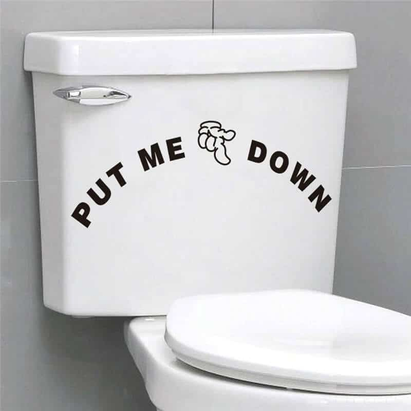 Nalepka za WC desko - Put me down 1