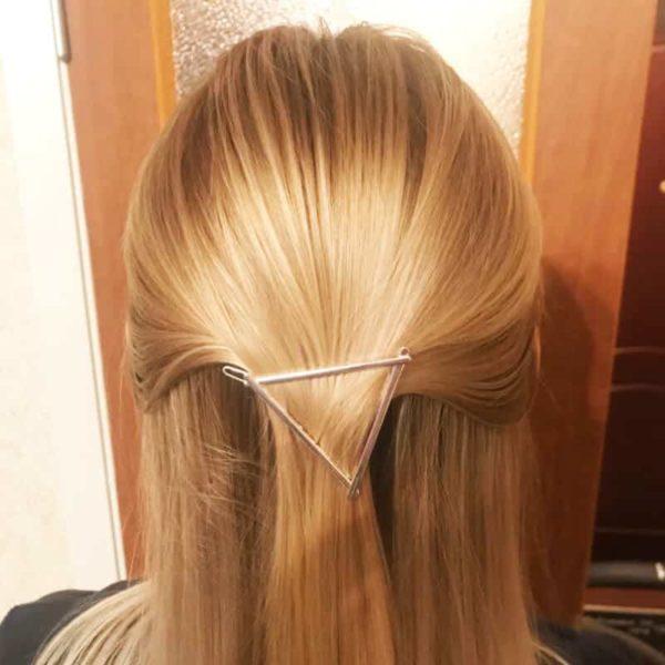 sponka za lase trikotnik