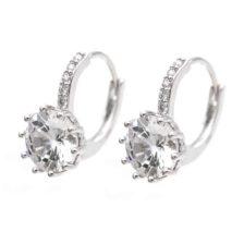 srebrni uhani s kristalom