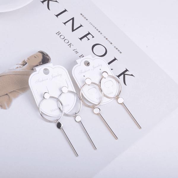 srebrni uhani za ženske trendni
