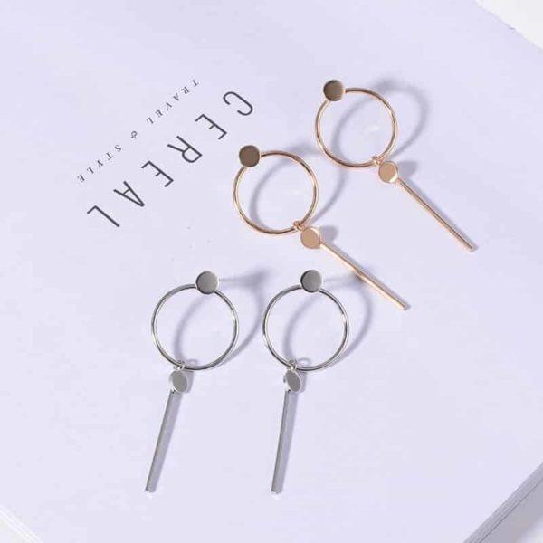 viseči srebrni uhani za dekleta