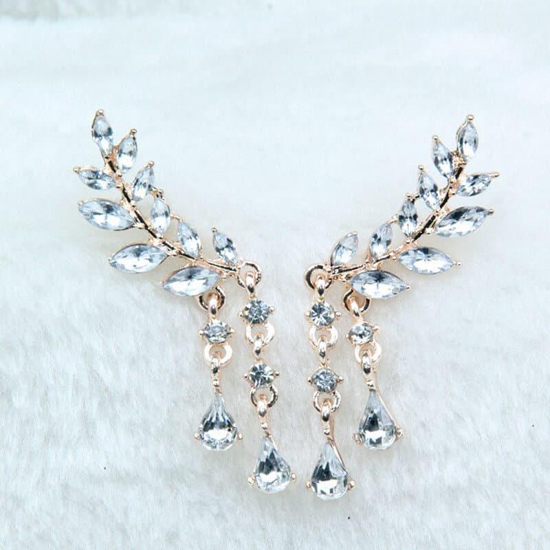 viseči uhani za ženske z angelskimi krili ni kristali