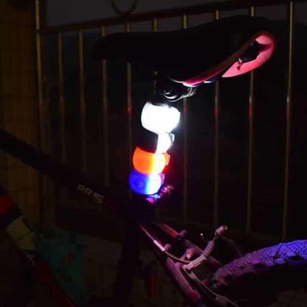 Zadnja luč za kolo / opozorilna led luč - več barv 1