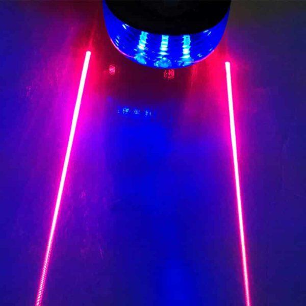 zadnja luč za kolo laser modra
