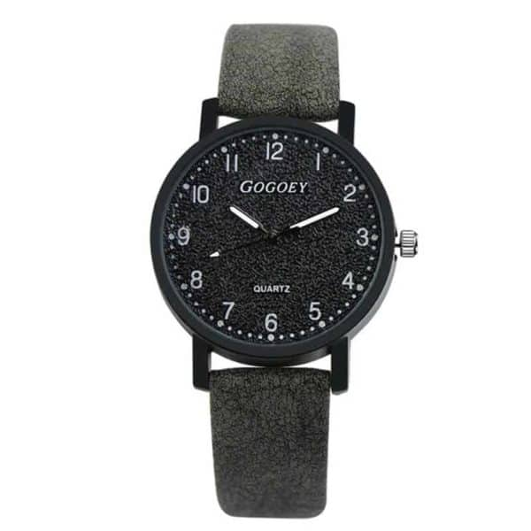 ženska ročna ura črne barve modna