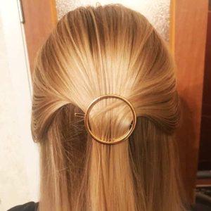 zlata sponka za lase