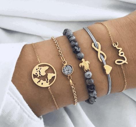 Set zapestnic s simboliko brezkončnosti, ljubezni in sveta 1