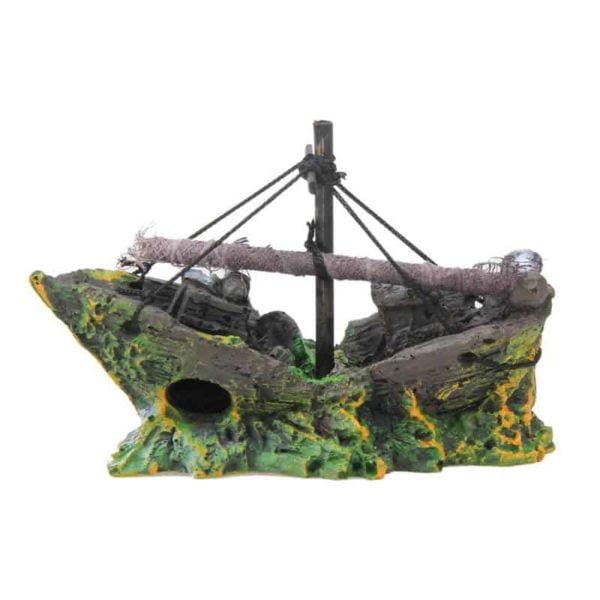 dekoracija za akvarije v obliki ladje