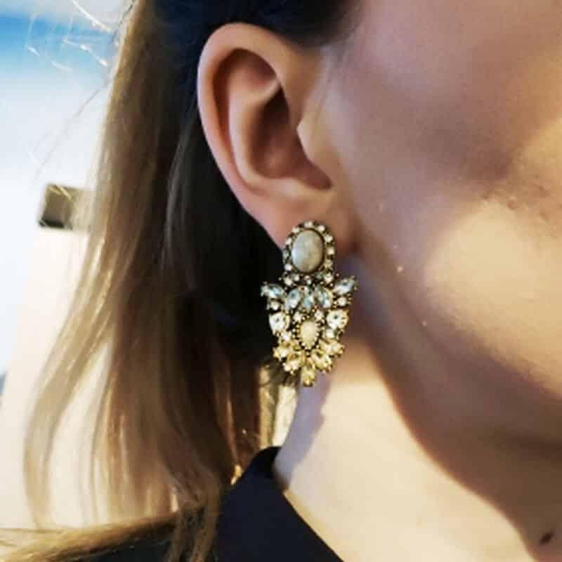Kristalni uhani z diamanti v prelepi obliki - Za posebne priložnosti 4