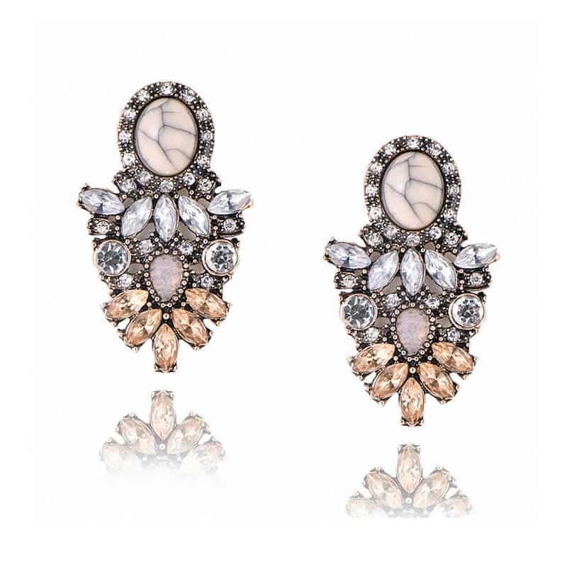 Kristalni uhani z diamanti v prelepi obliki - Za posebne priložnosti 2