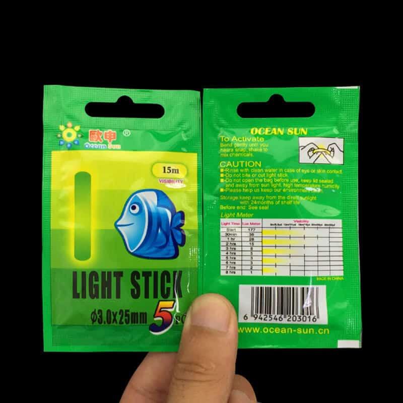 Svetleča palčka za nočni ribolov - 5 kosov v paketu 5