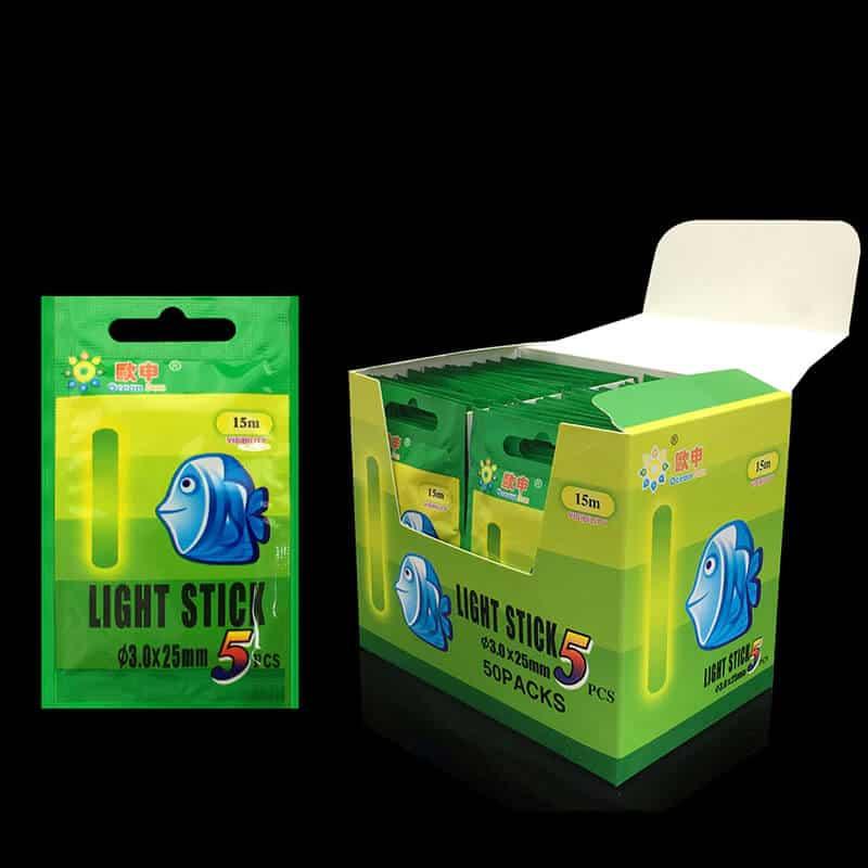 Svetleča palčka za nočni ribolov - 5 kosov v paketu 1