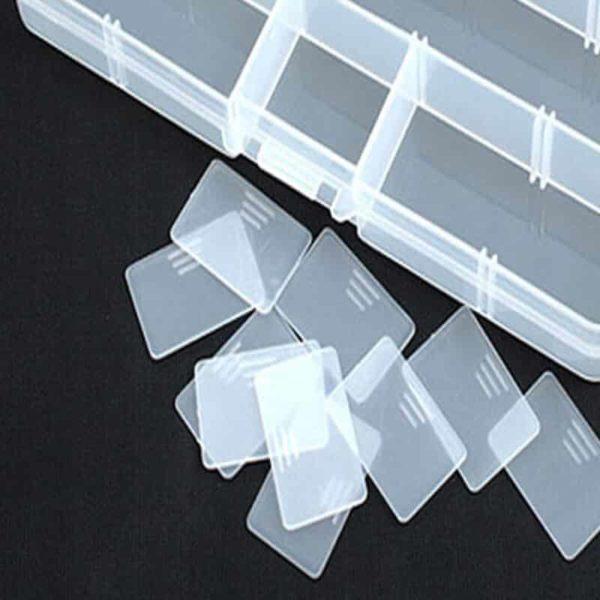 plastična škatla za vabe s snemljivimi predali