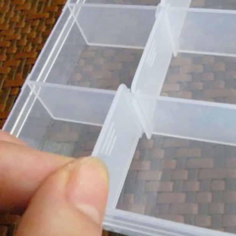Ribiška mini škatla za trnke, svince, vrtljivke, vabe - FUNKCIJSKI RPEDALI 1