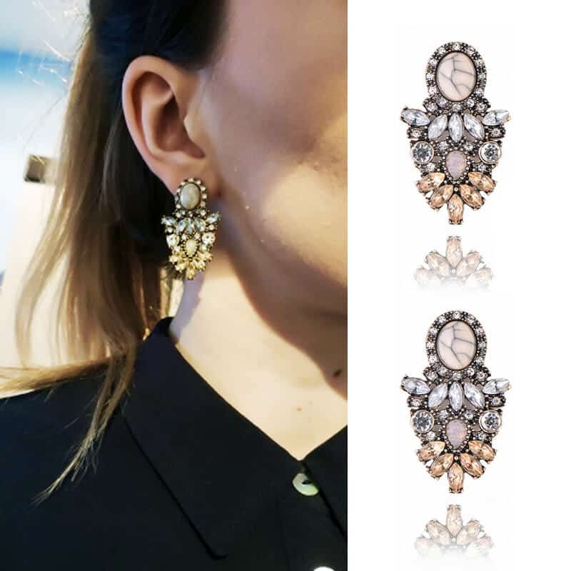 Kristalni uhani z diamanti v prelepi obliki - Za posebne priložnosti 1