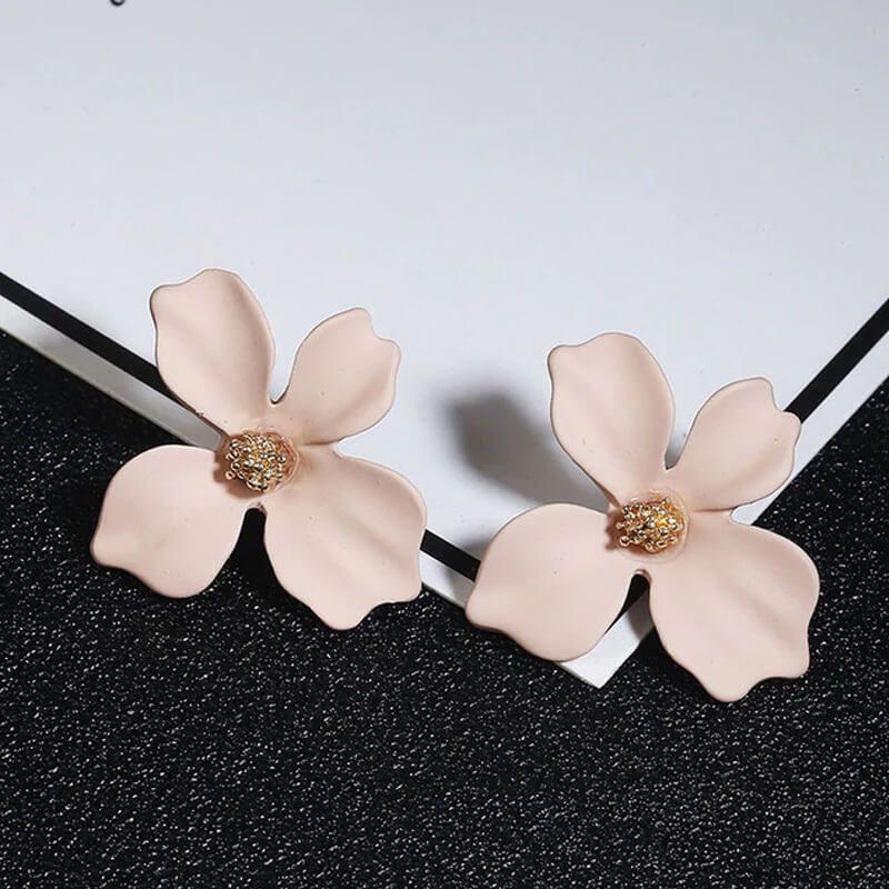 uhani v obliki rože elegantni