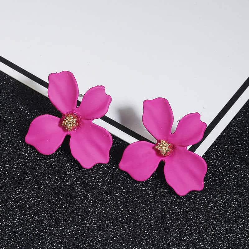 Ženski uhani v obliki rože - Več barv 14