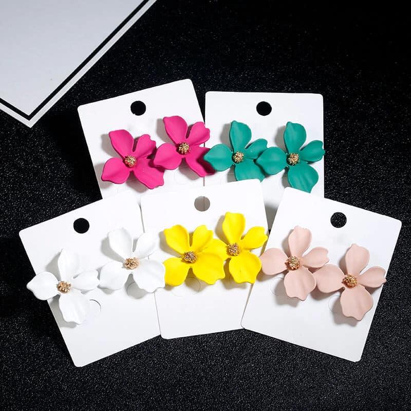 Ženski uhani v obliki rože - Več barv 12
