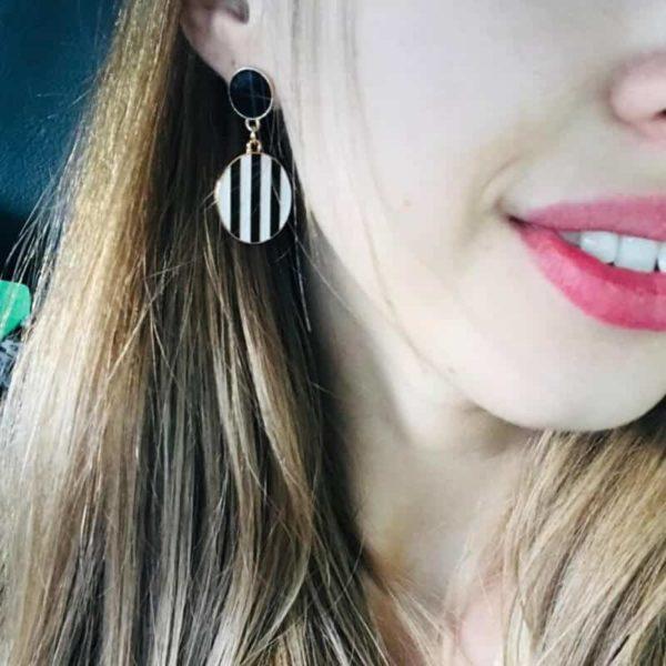 viseči uhani elegantni modni
