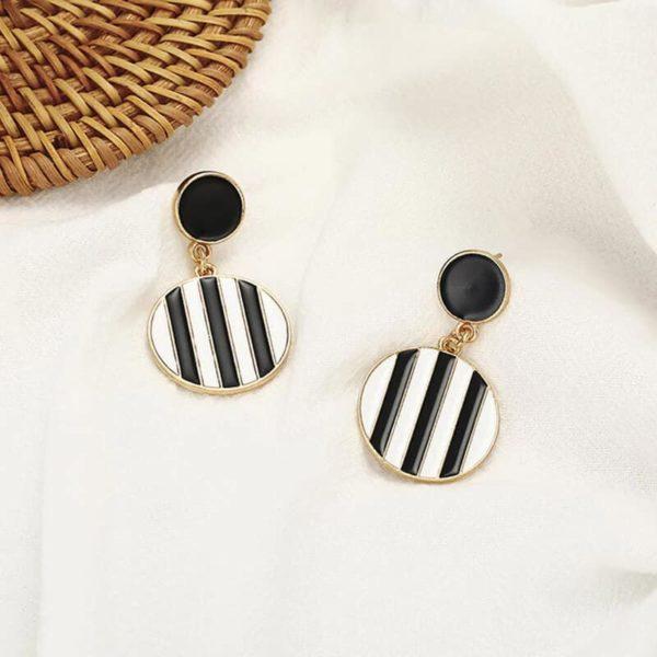 viseči uhani za ženske elegantni črni