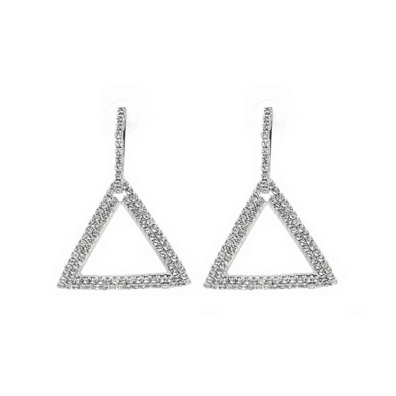 Viseči uhani s kristali – oblika trikotnika 1