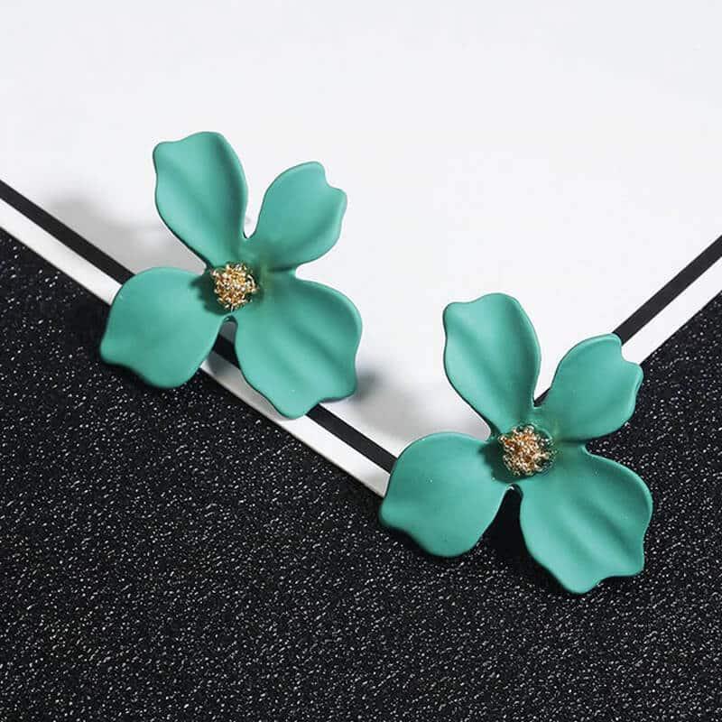 Ženski uhani v obliki rože - Več barv 10