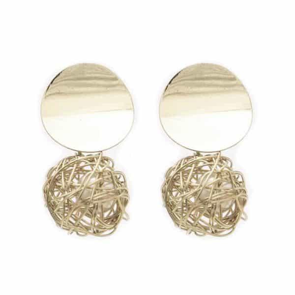 zlati uhani z biserom za ženske
