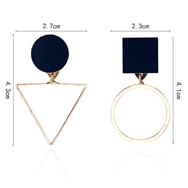 zlati viseči uhani modni velikost