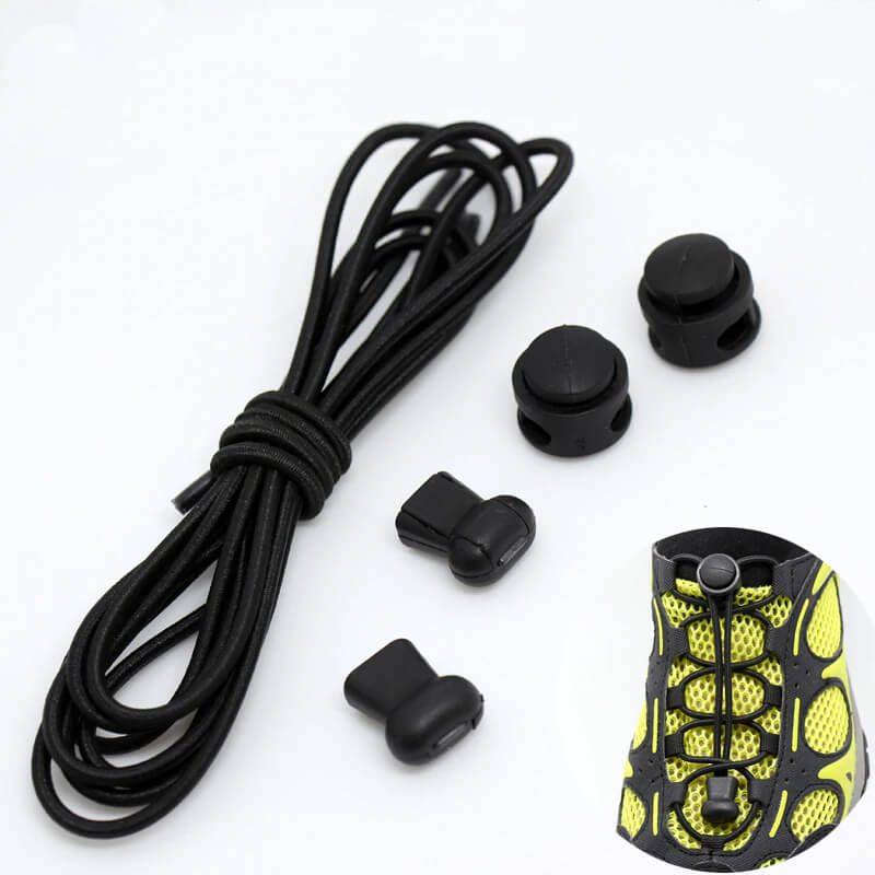 elastične vezalke črne barve