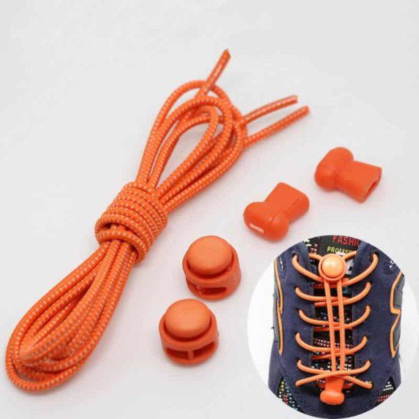 elastične vezalke športne oranžne barve