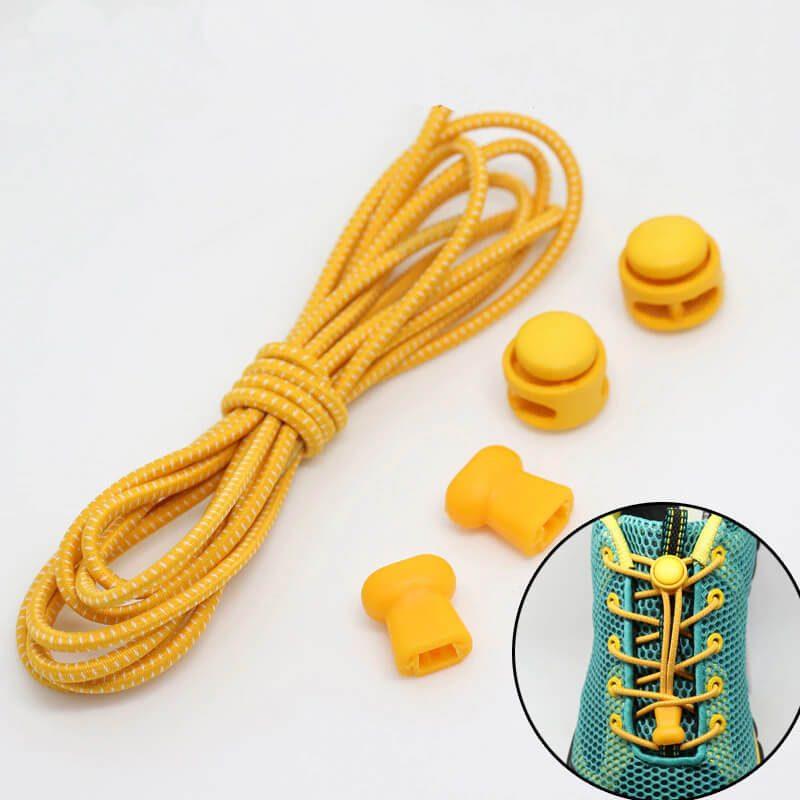 elastične vezalke rumene barve