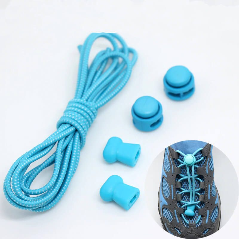 elastične vezalke svetlo modre barve