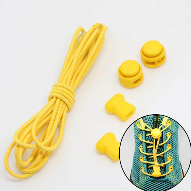 elastične vezalke svetlo rumene barve