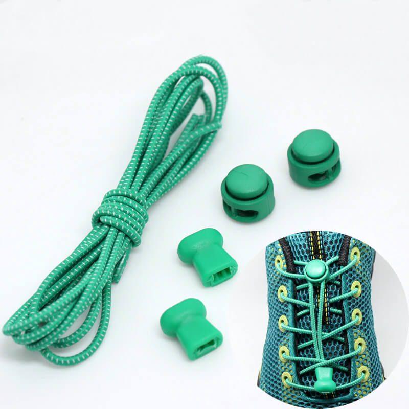 elastične vezalke zelene barve