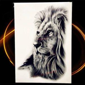začasni tattoo levja glava