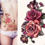 Barvni začasni tattoo vrtnica
