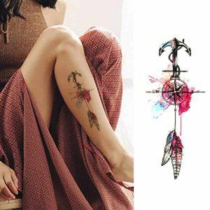 Začasni tattoo kompas sanj in našega življenja
