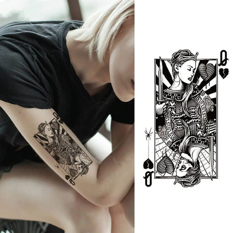 Začasni tattoo kraljica uspeha