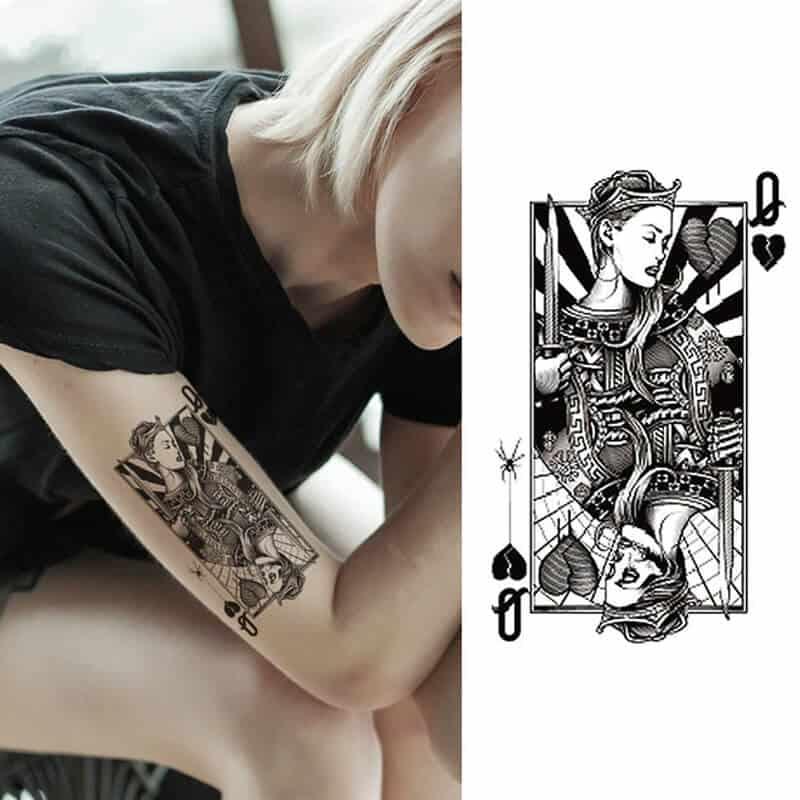 Začasni tattoo - kraljica uspeha 1