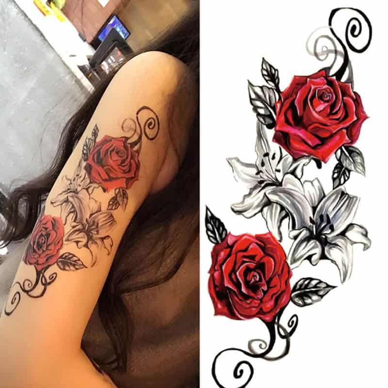 Začasni tattoo - ljubezen in romantika 1