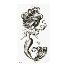 Začasni tattoo mitološko bitje in boginja morskega imperija Ariela