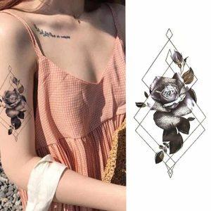 Začasni tattoo vrtnica geometrijskega življenja