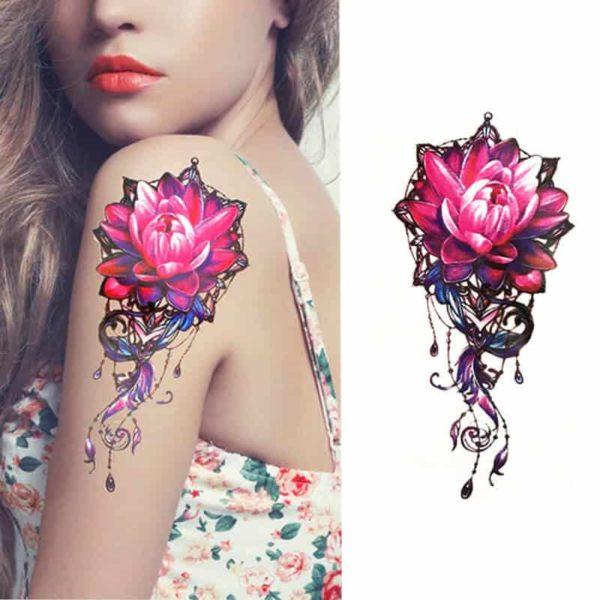Začasni tattoo vrtnica lepote in ženskosti