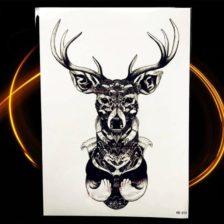 začasni tattoo žival jelen s simboliko mogočnosti in lepote