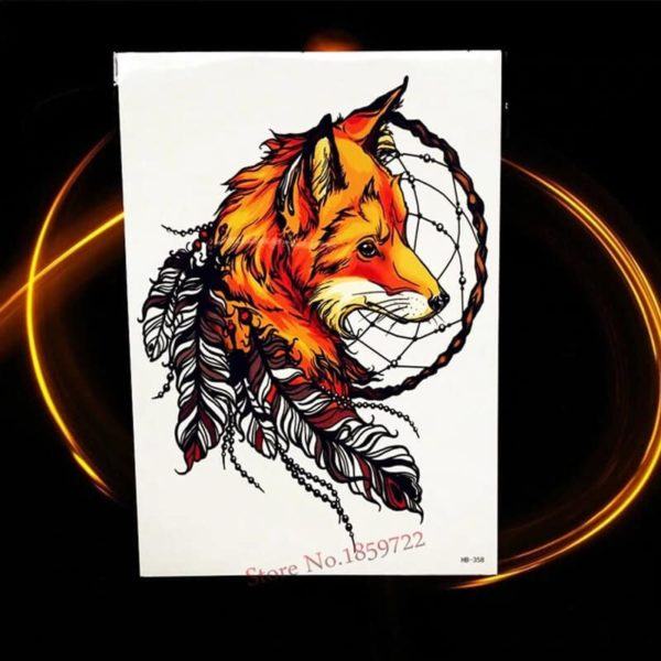 začasni tattoo lisica